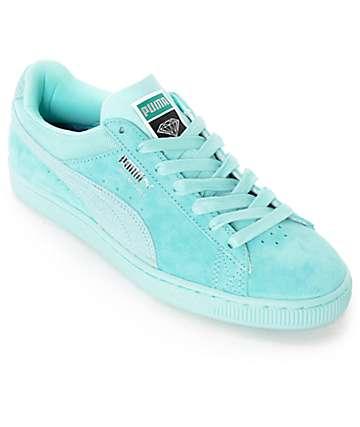 PUMA x Diamond Supply Suede Classic Aruba Blue Suede Shoes