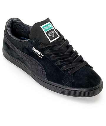 PUMA x Diamond Supply Suede Classic Black Suede Shoes