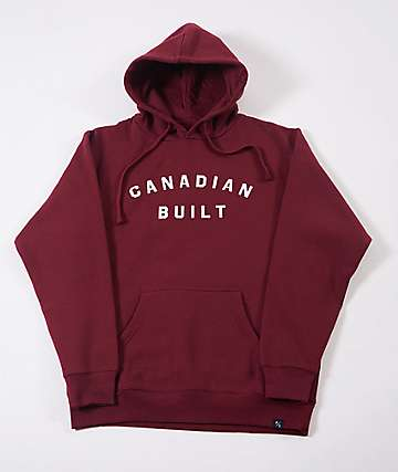 Peace Collective Canadian Built Burgundy Hoodie
