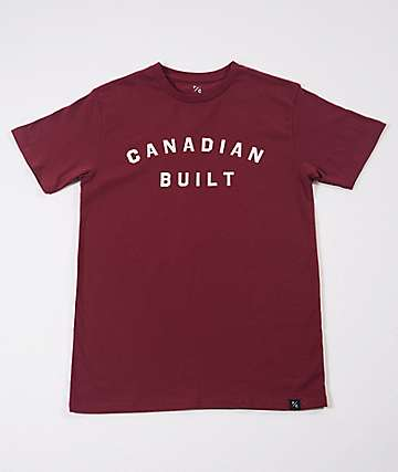 Peace Collective Canadian Built Burgundy T-Shirt