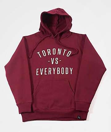 Peace Collective Toronto Vs. Everybody Burgundy Hoodie