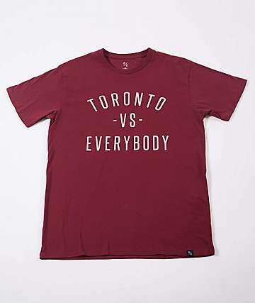 Peace Collective Toronto Vs. Everybody Burgundy T-Shirt