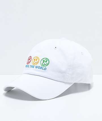 Petals by Petals & Peacocks Heal The World White Strapback Hat