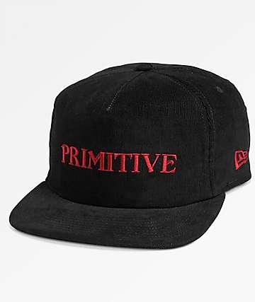 Primitive Black Magic Corduroy Black Snapback Hat