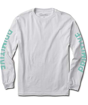 Primitive Block White Long Sleeve T-Shirt