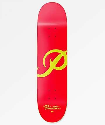 """Primitive Classic P Red 7.8"""" Skateboard Deck"""