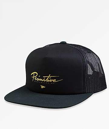 Primitive Core Logo Foam Black Trucker Hat