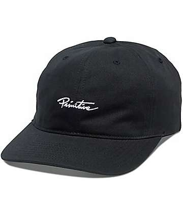 Primitive Mini Nuevo 6 Panel Black Hat