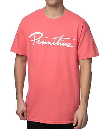 Primitive Nuevo Script Coral T-Shirt