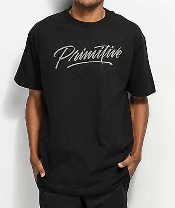 Primitive Pablo Script Black T-Shirt