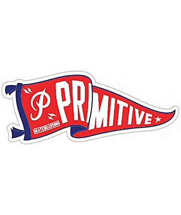 Primitive Pennant Red Sticker