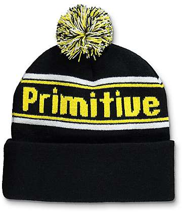 Primitive Prime Black Pom Beanie