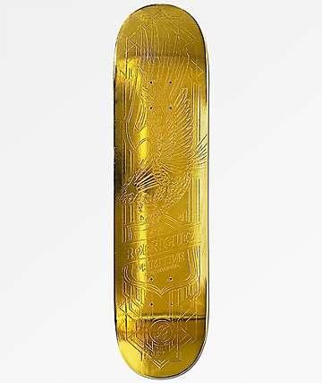 """Primitive Rodriguez Gold Foil 8.0"""" Skateboard Deck"""