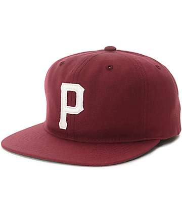 Primitive Slab P Burgundy Snapback Hat