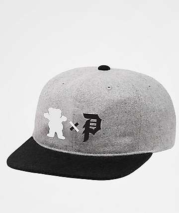 Primitive x Grizzly Dirty Bear Heather Grey Snapback Hat