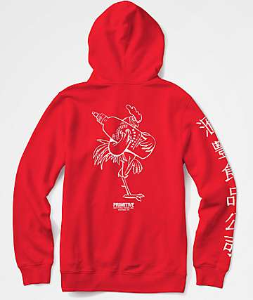 Primitive x Huy Fong Rooster Red Hoodie