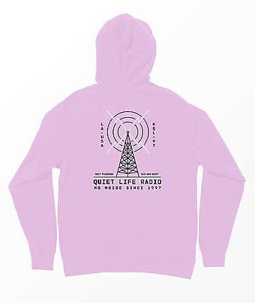 Quiet Life Radio Pink Hoodie
