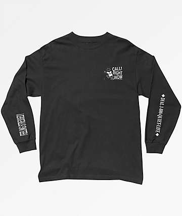 Quiet Life Stressed Out Long Sleeve Black T-Shirt