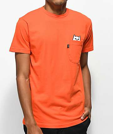 RIPNDIP Lord Nermal Orange Pocket T-Shirt