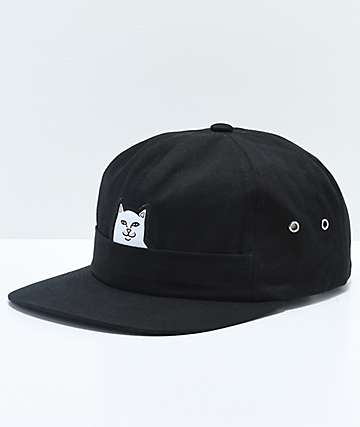 RIPNDIP Lord Nermal Pocket Black Six Panel Hat