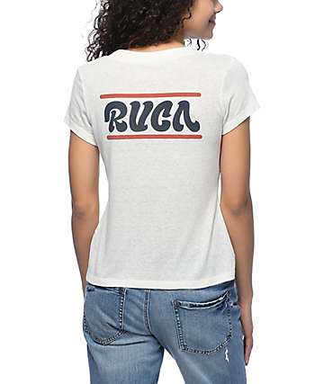 RVCA Joe Script White T-Shirt