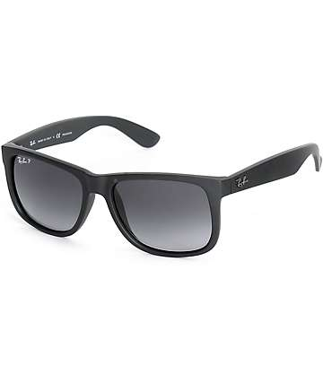 c371aa8218b31 ... sale ray ban justin black rubber polarized sunglasses ade12 df50a ...