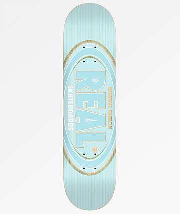 """Real Oval Renewal 8.06"""" Light Blue Skateboard Deck"""
