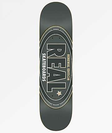 "Real Oval Renewal 8.25"" Dark Grey Skateboard Deck"