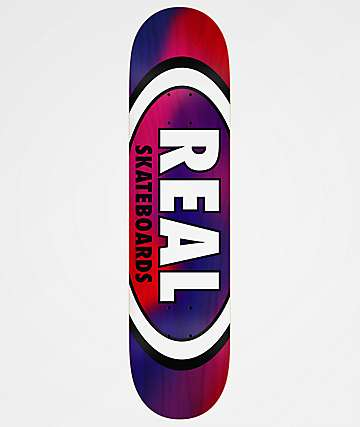 "Real Tie Dye Oval 8.12"" Blue & Red Skateboard Deck"