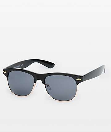 Retro Black & Gold Sunglasses