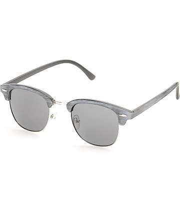 Retro Saltwater Black Wood Sunglasses