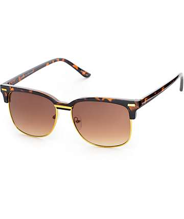 Retro Tortoise & Gold Sunglasses