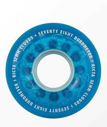 Ricta Crystal Clouds 52mm 78A Blue Skateboard Wheels