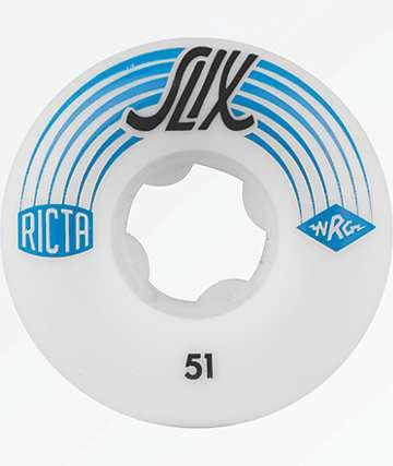 Ricta Slix 51mm White Skateboard Wheels