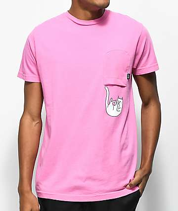 RipNDip Falling For Nermal Pink Pocket T-Shirt