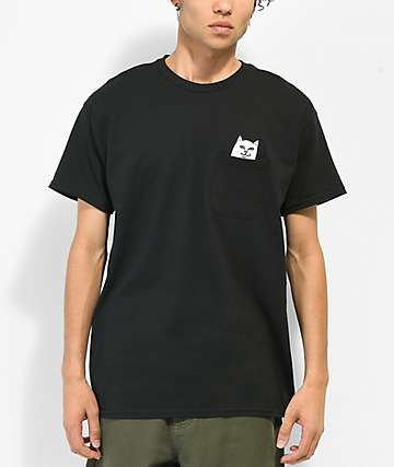 RipNDip Lord Nermal Pocket Black T-Shirt