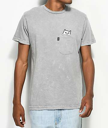 RipNDip Lord Nermal Pocket Grey T-Shirt