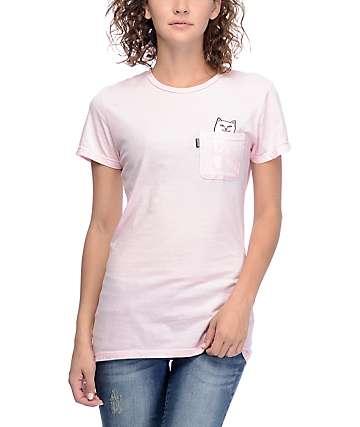RipNDip Lord Nermal Pocket Pink T-Shirt