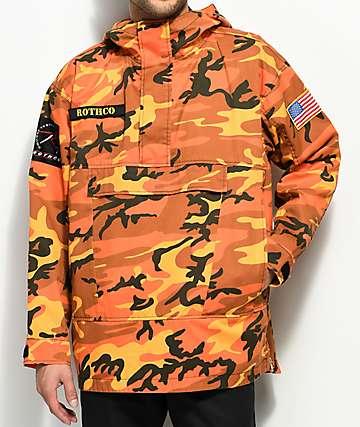 Rothco Savage Orange Camo Anorak Jacket