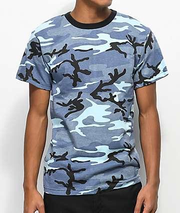Rothco Sky Camo Blue T-Shirt
