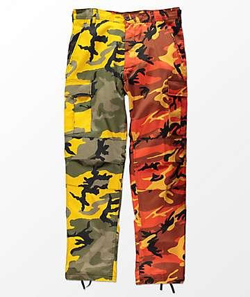 Rothco Split Yellow & Orange Camo Cargo Pants