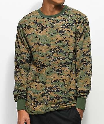 Rothco Woodland Digi Camo Green Long Sleeve T-Shirt