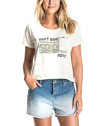 Roxy Baby Tacos Surf Society Crop T-Shirt