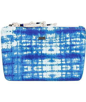 Roxy Bye Bye Baby Blue Tie Dye Cosmetic Bag