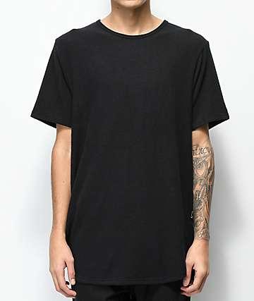 Rustic Dime Hacci Black Elongated T-Shirt