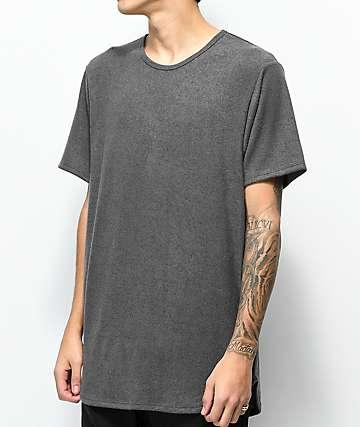 Rustic Dime Hacci Charcoal Elongated T-Shirt