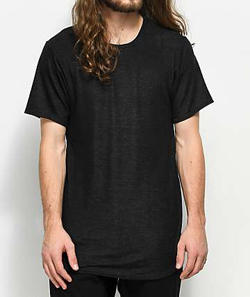 Rustic Dime Heather Black Elongated T-Shirt