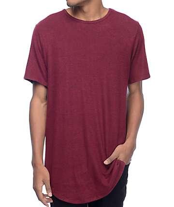 Rustic Dime Heather Burgundy & Black Elongated T-Shirt
