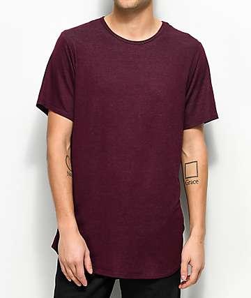 Rustic Dime Heather Burgundy Elongated T-Shirt