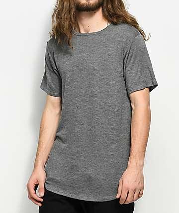 Rustic Dime Heather Charcoal Elongated T-Shirt